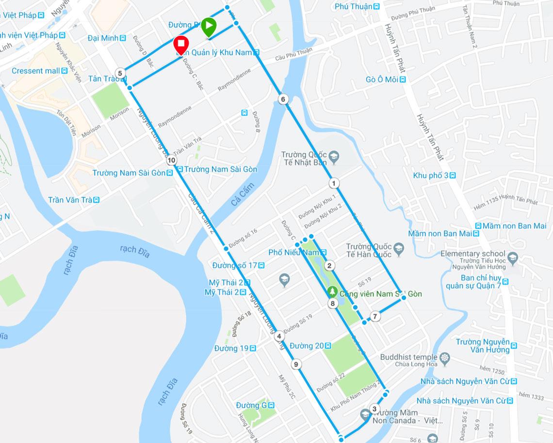 Hồ Chí Minh cự ly 10km