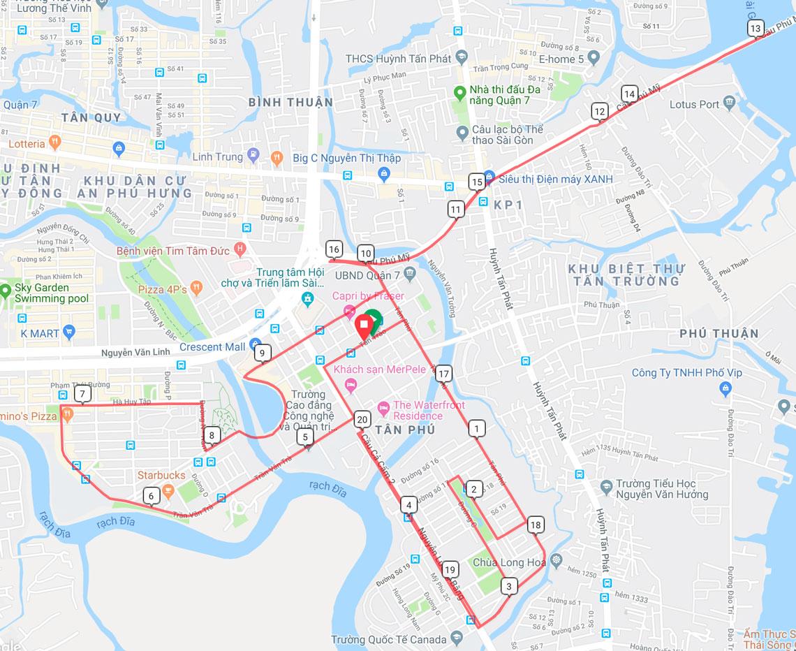 Hồ Chí Minh cự ly 21km