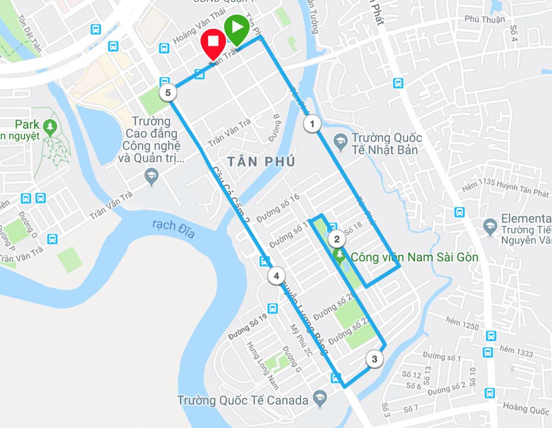 Hồ Chí Minh cự ly 5km